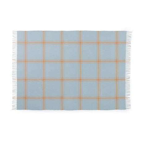 Normann Copenhagen Plaid Check Soft Blue/Peach 130x200cm
