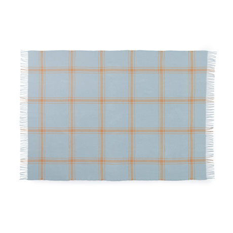 Normann Copenhagen Plaid Check Soft Blue / Pfirsich 130x200cm