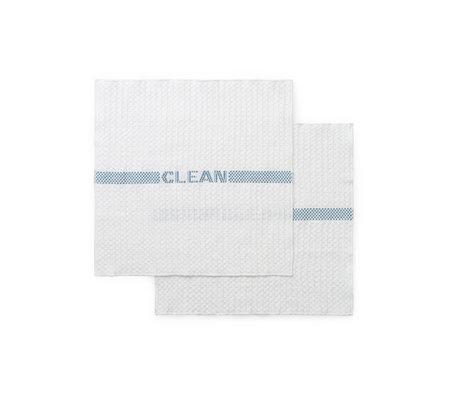 Normann Copenhagen Dishcloth Ren cloudy blue set of 2 35x32.5 cm
