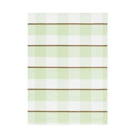 Normann Copenhagen Tea towel green maxi check 50x70cm