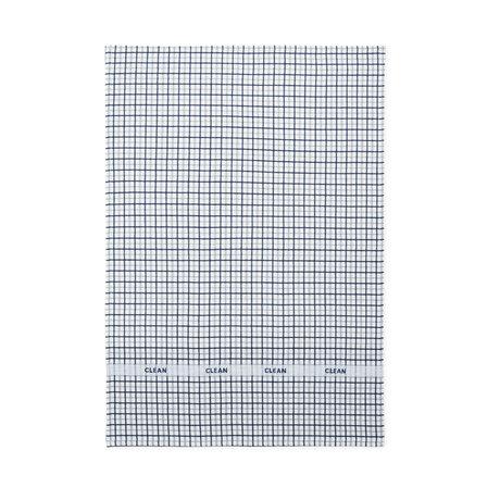 Normann Copenhagen Tea towel Ren dark blue gray double grid 50x70cm