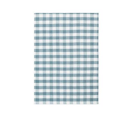Normann Copenhagen Tea towel Ren Check cloudy blue 50x70cm