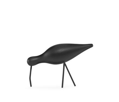 Normann Copenhagen Watvogel groß schwarz 22x6,5x14cm