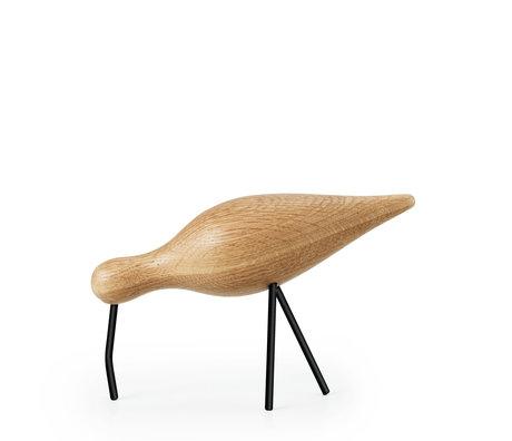 Normann Copenhagen Shorebird Large Eiche schwarz Holz 22x6,5x14cm