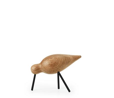 Normann Copenhagen Shorebird Medium Eiche schwarz Holz 15x5,5x11cm