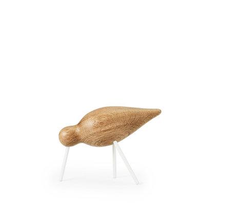 Normann Copenhagen Shorebird Medium Eiche weiß Holz 15x5,5x11cm