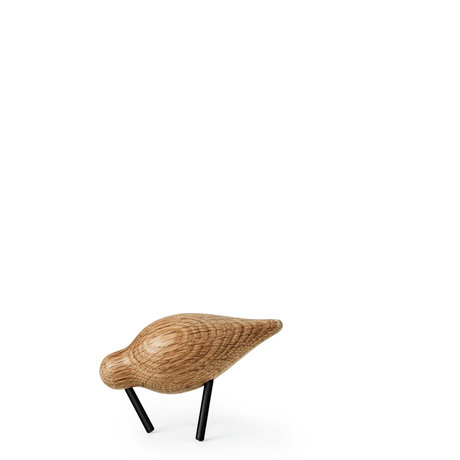 Normann Copenhagen Shorebird Small Oak zwart hout 11,5x4,5x7,5cm