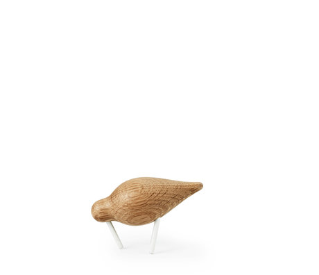 Normann Copenhagen Shorebird Small Oak wit hout 11,5x4,5x7,5cm