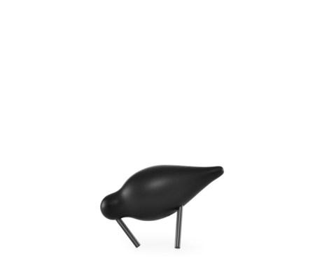 Normann Copenhagen Shorebird Small zwart 11,5x4,5x7,5cm
