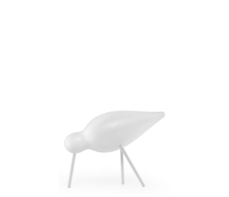 Normann Copenhagen Shorebird Medium wit 15x5,5x11cm