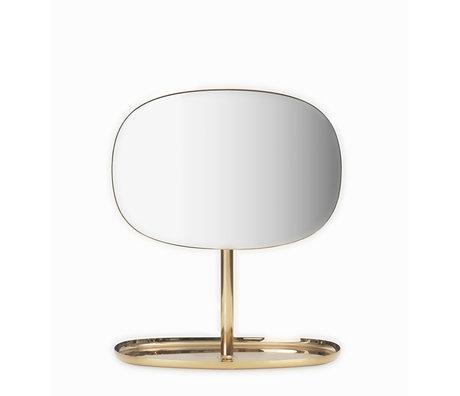 Normann Copenhagen Miroir Flip Mirror laiton doré 28x19,5x34,5 cm