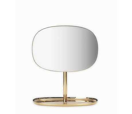 Normann Copenhagen Mirror Flip Mirror brass gold 28x19.5x34.5 cm