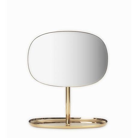 Normann Copenhagen Spiegel Flip Mirror brass goud 28x19,5x34,5cm