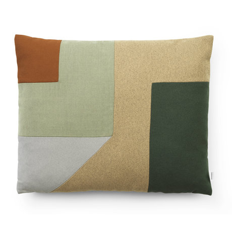 Normann Copenhagen Decorative pillow Brick green Multi 60x50cm