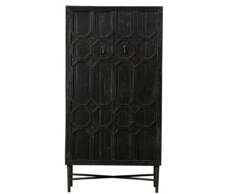 BePureHome Schrank Vermächtnis aus schwarzem Holz 75x40x143cm