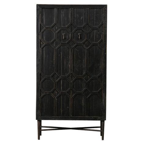 BePureHome Armoire Legs bois noir 75x40x143cm