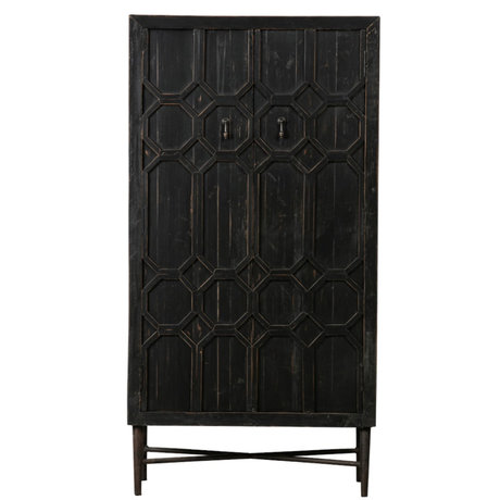 BePureHome Cupboard Bequest black wood 75x40x143cm