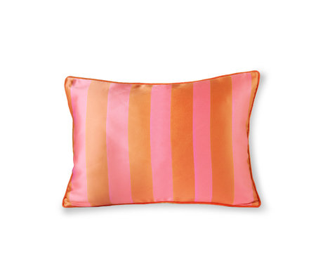 HK-living Coussin orange rose polyester coton 50x35cm
