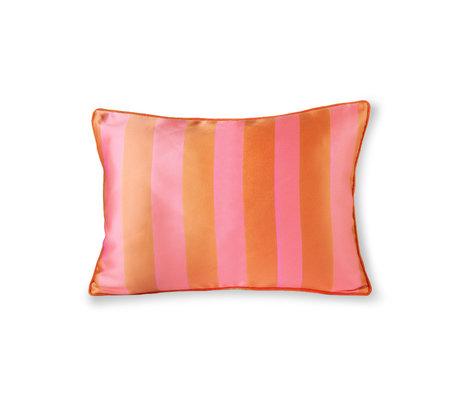 HK-living Kissen orange pink Polyester Baumwolle 50x35cm
