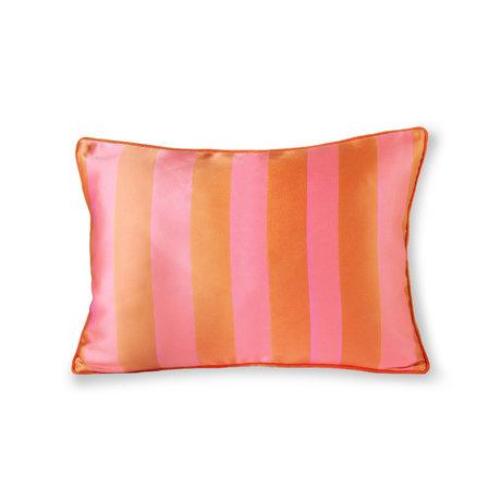 HK-living Sierkussen oranje roze polyester katoen 50x35cm