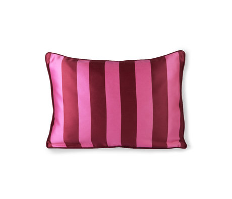 HK-living Coussin rose violet polyester coton 50x35cm