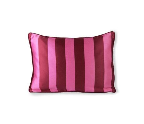 HK-living Cushion pink purple polyester cotton 50x35cm