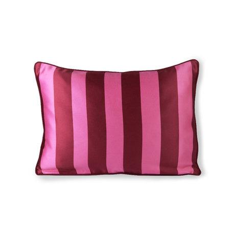 HK-living Coussin rose violet polyester coton 50x35cm