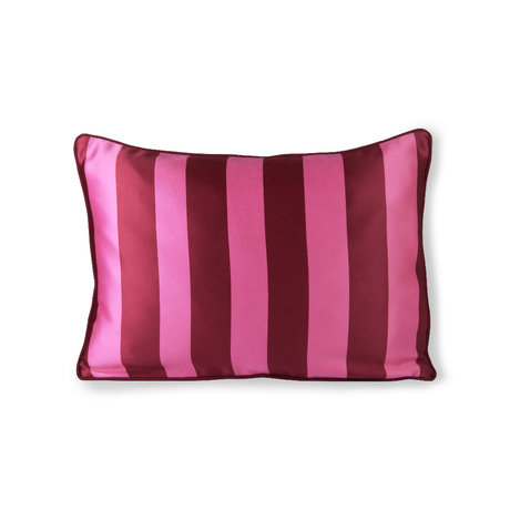 HK-living Sierkussen roze paars polyester katoen 50x35cm