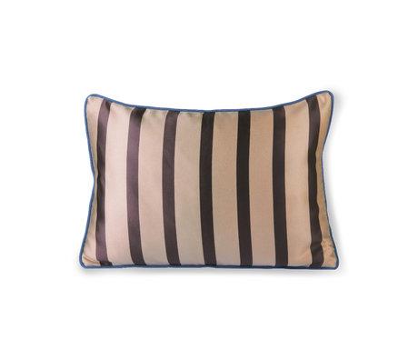 HK-living Coussin marron polyester gris foncé coton 50x35cm