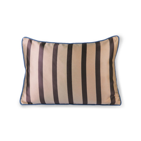 HK-living Cushion brown dark gray polyester cotton 50x35cm