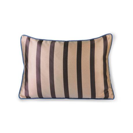 HK-living Sierkussen bruin donkergrijs polyester katoen 50x35cm