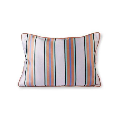 HK-living Cushion orange blue polyester cotton 50x35cm