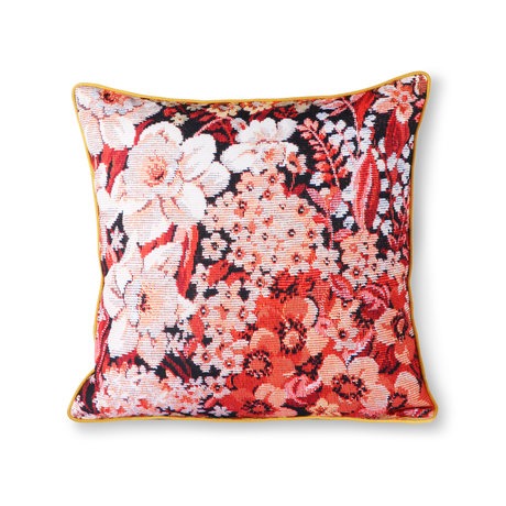HK-living Kissen gedruckt Floral mehrfarbigen Polyester Baumwolle 50x50cm