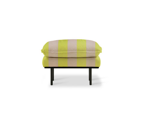 HK-living Stool retro stripes nude yellow polyester 72x65x46cm