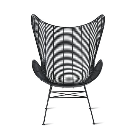 HK-living Chair Outdoor Egg black iron plastic 74x81x110cm