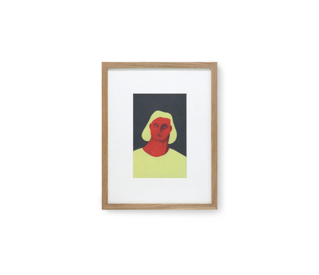 HK-living Schilderij bij Pauline Blanchard multicolour glas papier 36,5x2,5x46cm