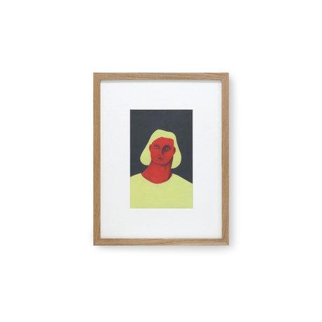 HK-living Peinture par Pauline Blanchard papier verre multicolore 36,5x2,5x46cm