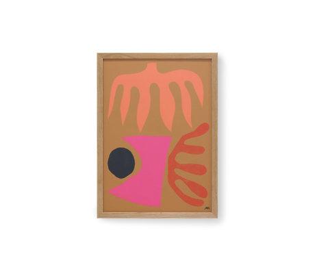 HK-living Painting by Marcello Velho multicolour glass paper 39x2.5x53cm