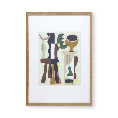 HK-living Painting at Garance Valleé glass paper 49x2.5x69cm