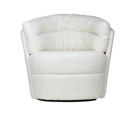 HK-living Stoel Twister Fauteuil cream gebroken wit polyester 76x76x86cm