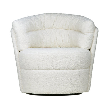 HK-living Chair Twister Armchair cream off-white polyester 76x76x86cm