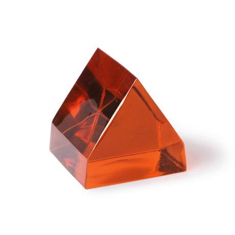 HK-living Deco-object Terra bruin glas 12x13x12cm