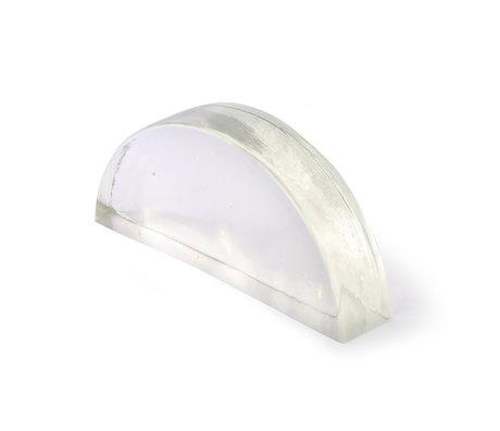 HK-living Deco object Clear glass 24x5x11cm