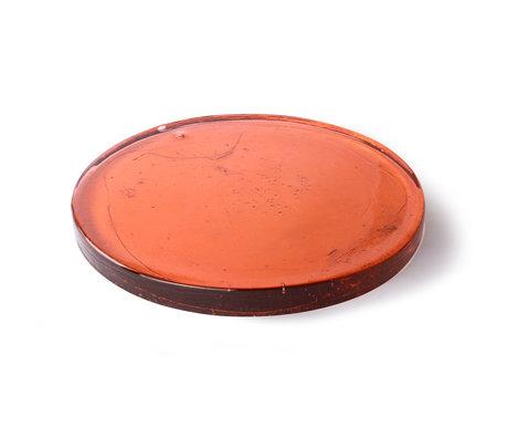 HK-living Deco-object Peach oranje glas 40x40x3cm