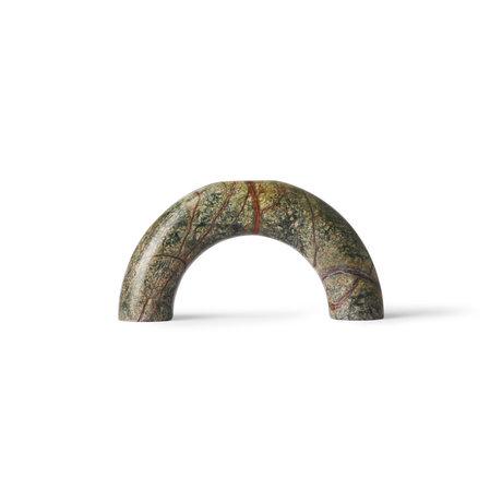 HK-living Dekoobjekt Marble Arch grüner Marmor 19x4x10cm