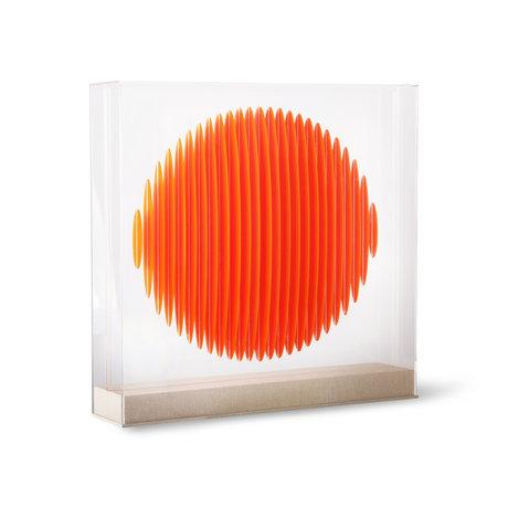 HK-living Deco object Orange Circle Art Frame Orange Plexiglas MDF 60x60x12cm
