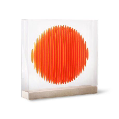 HK-living Dekoobjekt Orange Circle Art Frame Orange Plexiglas MDF 60x60x12cm