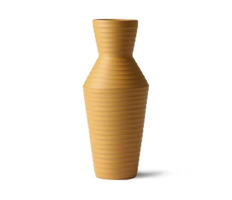 HK-living Vase Ceramic Flower Ocher brown yellow ceramic 16x16x31cm
