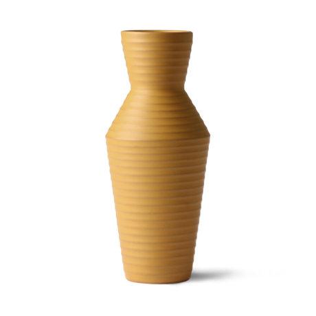 HK-living Vase Céramique Fleur Ocre marron jaune céramique 16x16x31cm