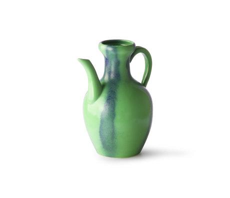 HK-living Keramik grün blau Keramikkrug 16x16x19,6 cm
